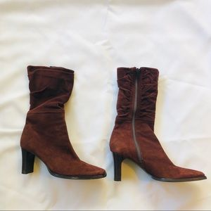 Real Suede Brown Boots